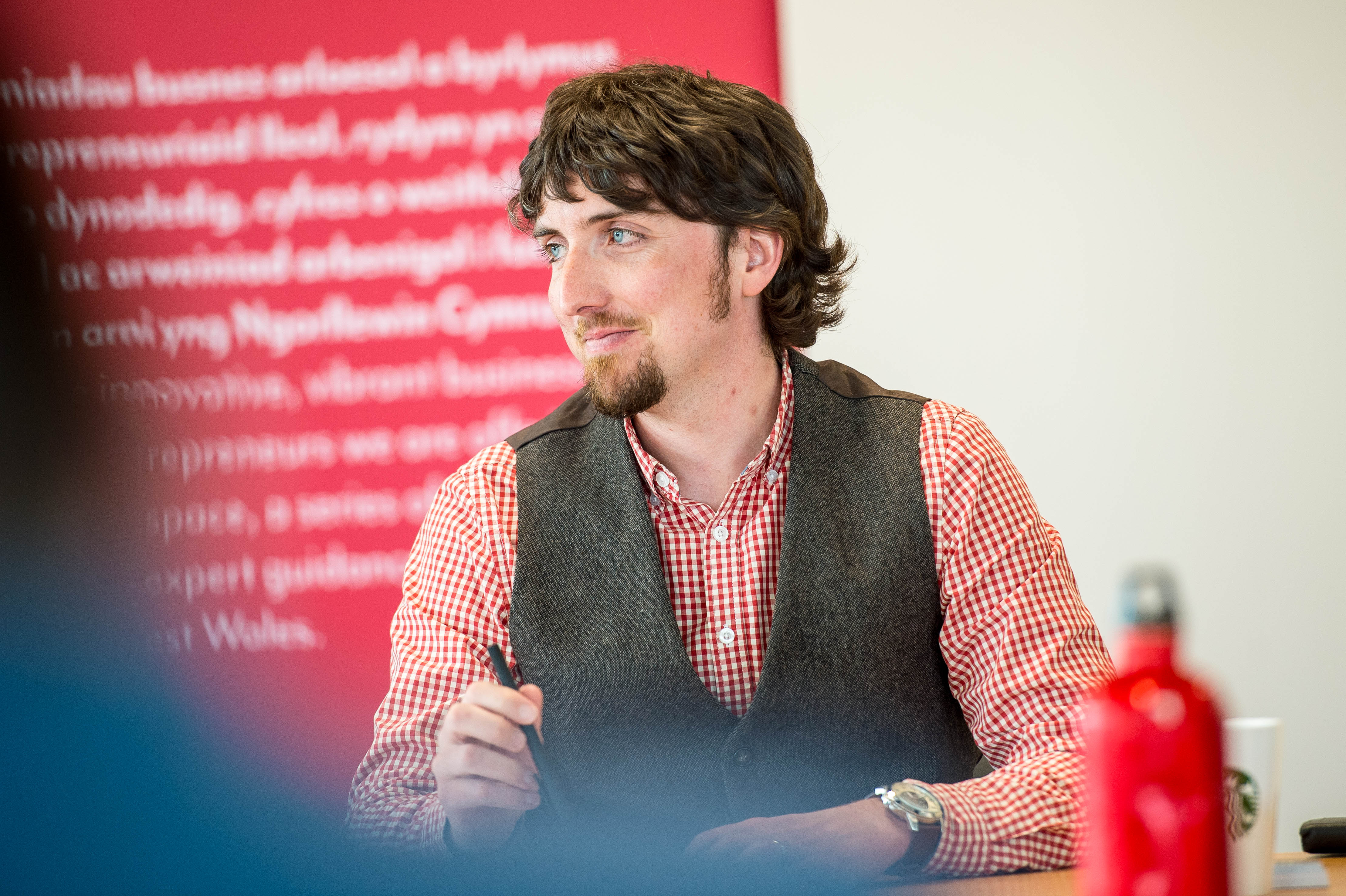 Daniel Patterson, Highly speaking in a branding workshop